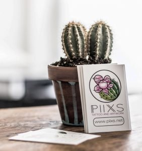 Piixs Tattoo and Artwork Vistitenkarten