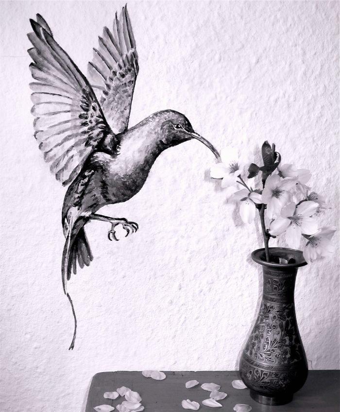 tattoo konstanz artwork wandmalerei kolibri