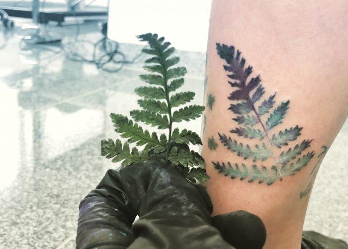 farn tattoo konstanz Aquarell watercolor