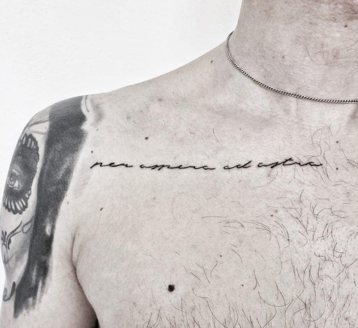 schriftzug tattoo konstanz per aspera ad astra
