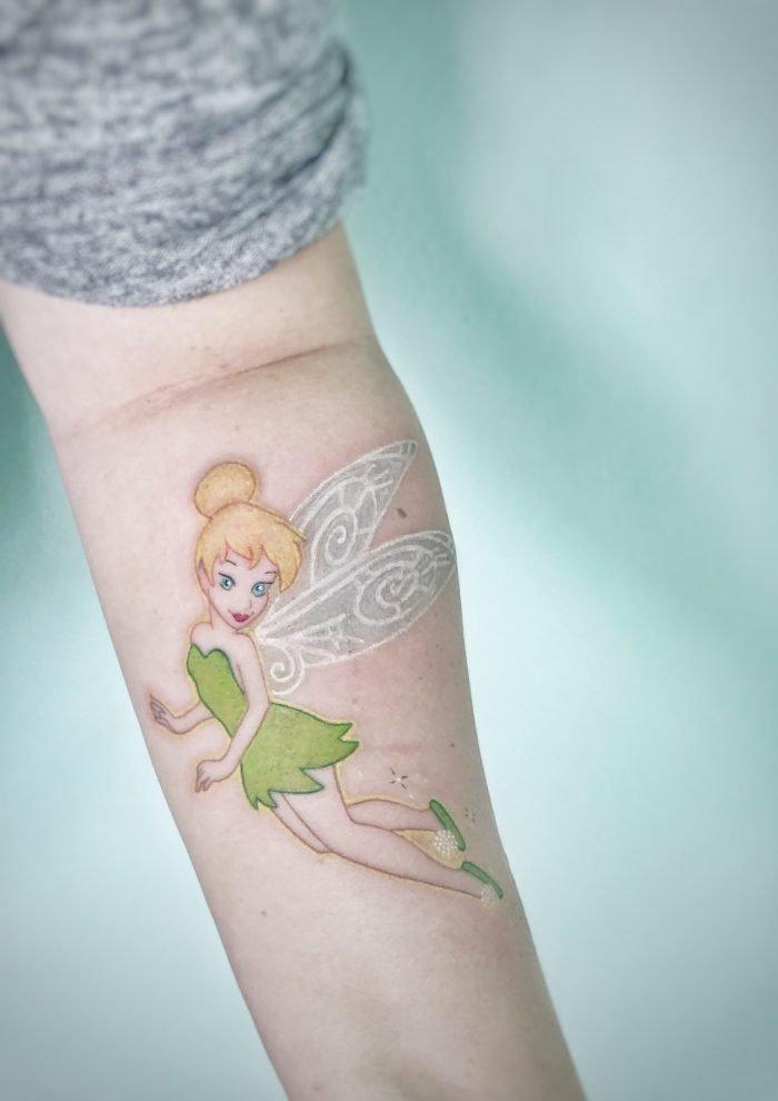 colour tattoo arm tinkerbell konstanz bodensee walt disney