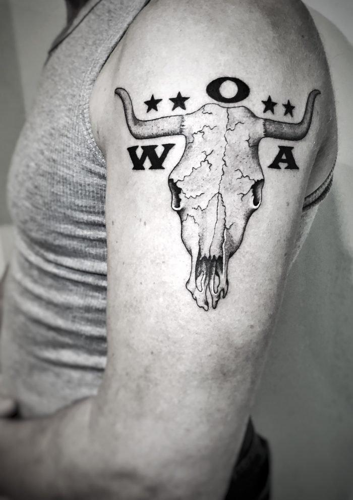 black grey tattoo wacken wackenschädel bodensee konstanz