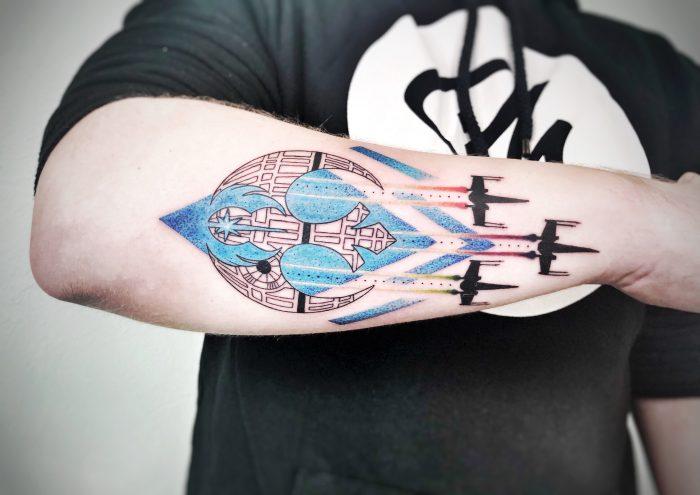 colour tattoo konstanz piixs star wars bodensee tattoo dotwork