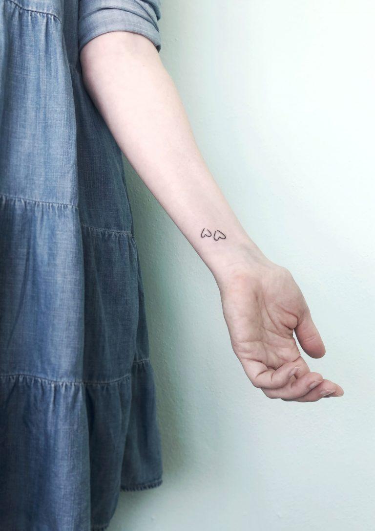 handpoked tattoo herzchen herz konstanz allensbach