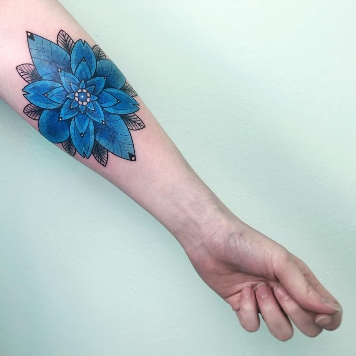 Colour tattoo cover up konstanz bodensee blue blau