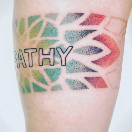 Arm Dotwork regenbogen tattoo konstanz piixs color