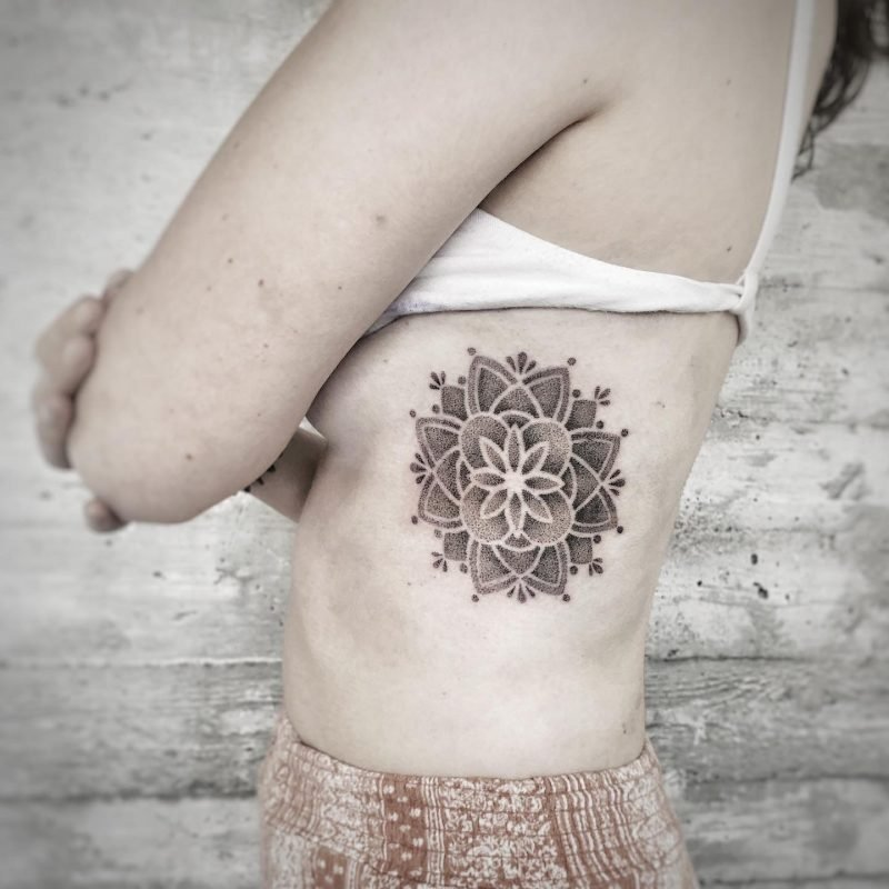 dotwork mandala cover up