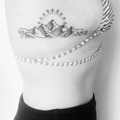 Dotwork tattoo piixs bodensee konstanz berge meer
