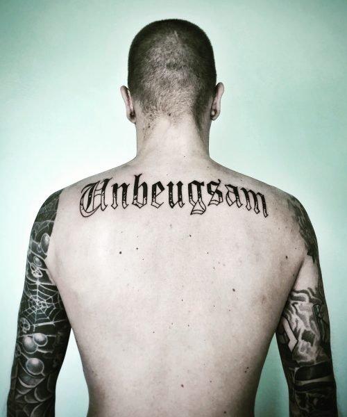 blackwork letterwork tattoo konstanz bodensee