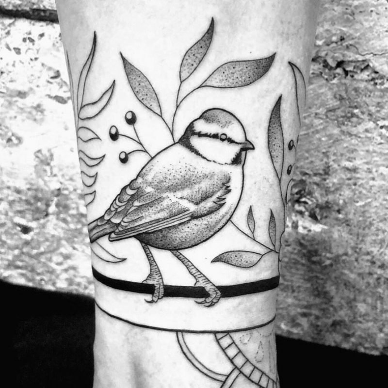 dotwork bird blaumeise vogel tattoo konstanz tattoostudio PIIXS kaya piixs tattoo zürich bodensee lake of constanze