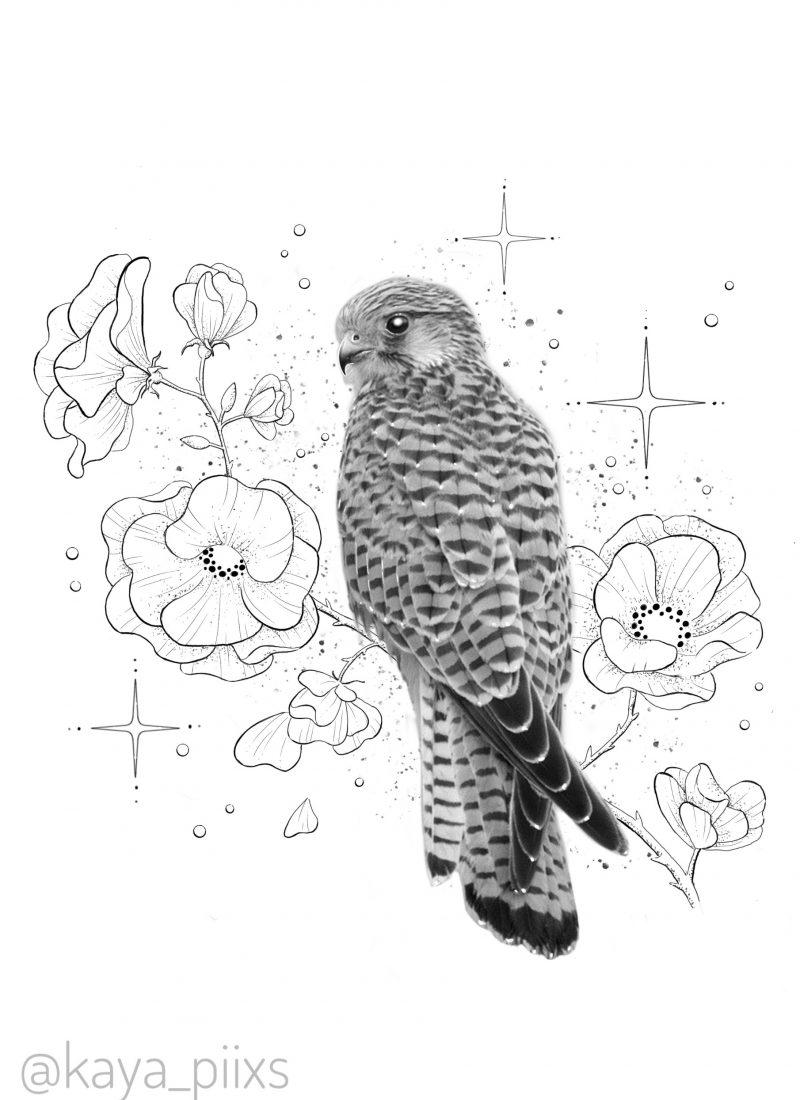 wanna do germany tattoo pilze bird busarde tattooartist kaya piixs tattoostudio konstanz bodensee zürich ink dotworkartist