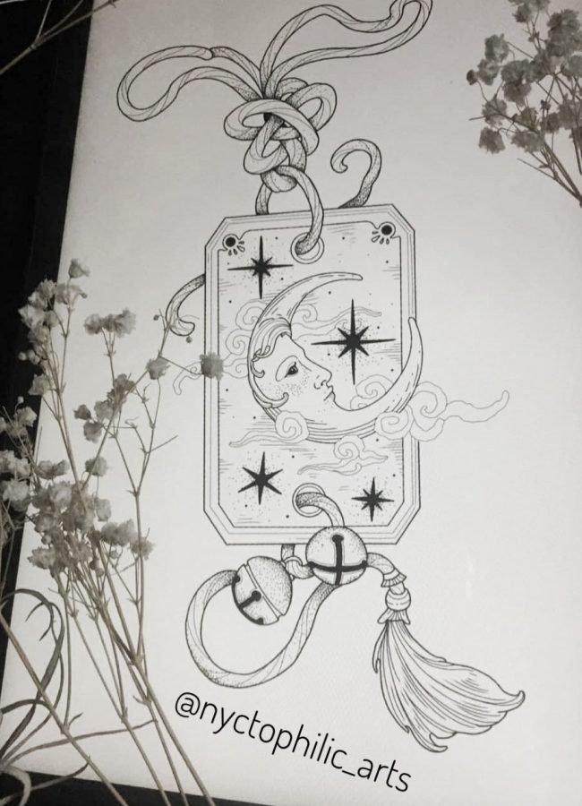 wanna do liza moon lady tattoo konstanz tattoostudio piixs bodensee zürich linework blackwork engraving art dotwork blackworkers witchtattoo witch tattoo